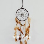 Brown & Beige Handwoven Dream Catcher
