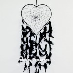 Black Love Heart Shaped Dream Catcher
