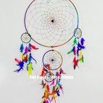 Multi Boho Colors Handmade Large Dream Catcher 16 Inch