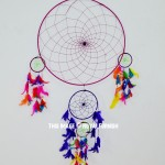 Colorful Big Boho Chic Dream Catcher Wall Hanging