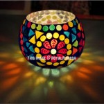Mosaic Glass Votive & Tealight Candle Holder