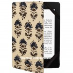 Beige Handblock Flower Printed Kindle Paperwhite Case for All 2012, 2013, 2015 and 2016 Versions