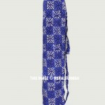 Blue Indigo Printed Eco Friendly Cotton Yoga Mat Bag