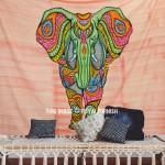 Hand Painted Indian Boho Elephant Tapestry