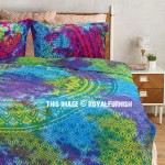 Multi Colorful Tie Dye Cotton Duvet Cover with 2 Pillow Covers