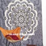 Grey Multi Marigold Bohemian Mandala Wall Tapestry