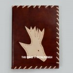 Handmade Deer Carved Leather Diary Notebook