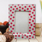 Grey & Pink Paper Tabletop Picture Frame 4X6 Inch