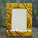 Gold & Brown Recycled Paper Tabletop Picture Frame 5X7