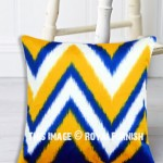 Colorful Chevron Square Throw Pillow Cover, Cushion Cover