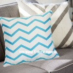 Turquoise Chevron Decorative Throw Pillow Cover, Cushion Cover