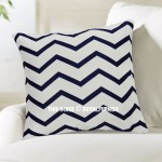 White & Blue Zig Zag Chevron Decorative Throw Pillow Cover, Cushion Cover