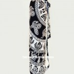 Black & White Bohemian Yoga Mat Bag Cover