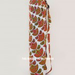 Orange Motif Cotton Yoga Mat Bag Cover