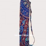 Blue Ghoomer Cotton Yoga Mat Bag Cover
