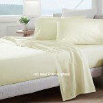 Beige 300 TC 4Pc Cotton Bed Sheet Set 1 Flat Sheet, 1 Fitted Sheet and 2 Pillowcases