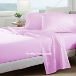 Baby Pink Hypoallergenic 4Pc Cotton Bed Sheet Set 1 Flat Sheet, 1 Fitted Sheet and 2 Pillowcases