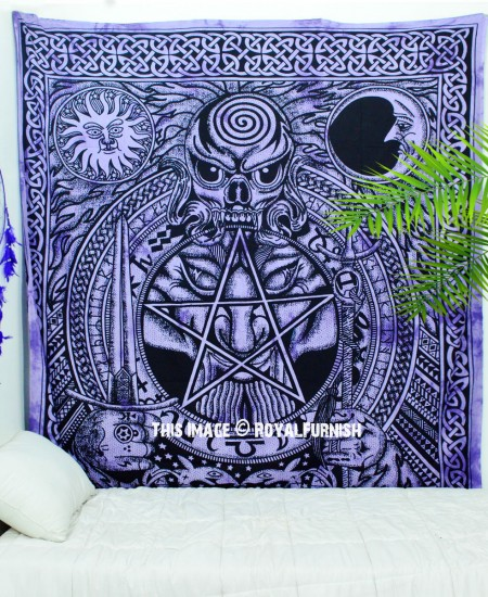 Purple Psychedelic Celtic Design Dragon Face Amp Skull Wall