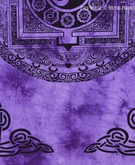 Purple Aum Yoga Meditation Om Symbol Tapestry Wall Hanging