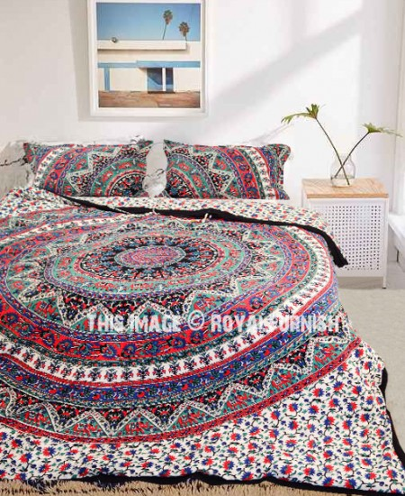 purple bohemian mandala boho white cover cilected set bedclothes soft duvet bedding blue bed romantic item
