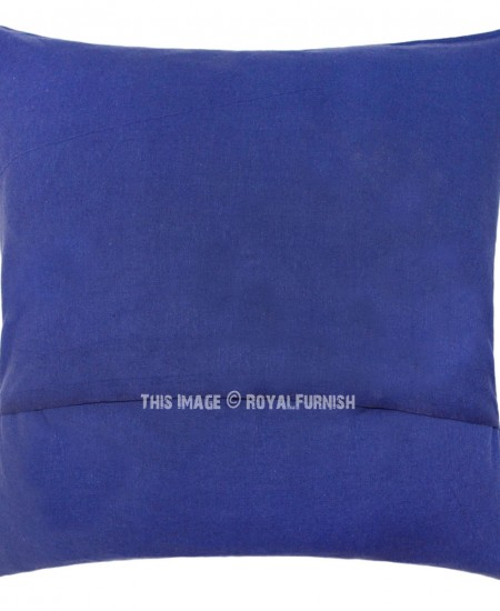 Blue Medallion Throw Pillows : Decorative Blue Medallion Mandala Throw Pillow Cover - RoyalFurnish.com