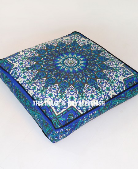 Floor Pillow Covers 25x25 : Blue Big Star Square Floor Pillow Cover 36