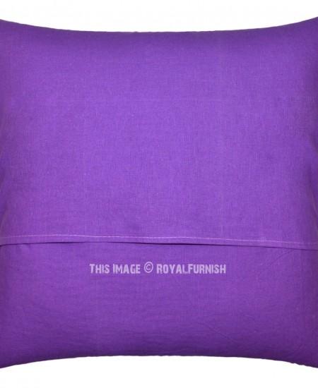 Large Purple Decorative Paisley Pattern Cotton Throw Pillow Cushion Cover - RoyalFurnish.com