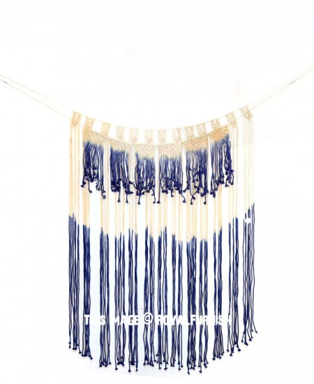 Big Long Dyed Macrame Wall Hanging Tapestry
